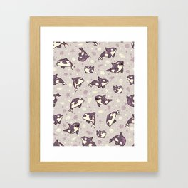 Jelly bean orcas Framed Art Print