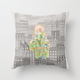 Eva City Glasshouse Throw Pillow