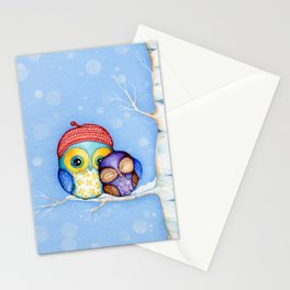 Owl in a Little Red Beret Stationery Cards