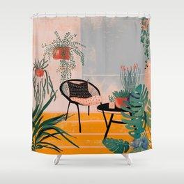 Urban jungle balcony Shower Curtain