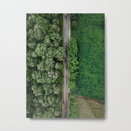 Countryside road in Northern Thailand Metal Print