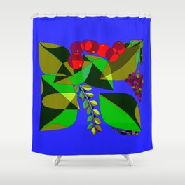 Traditional Pomegranates, Grapes and Olives Shower Curtain