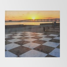 Checkerboard Sunset Throw Blanket