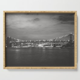 New York City Nights Across the River Serving Tray