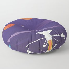 Voyager Grand Tour Science poster Floor Pillow