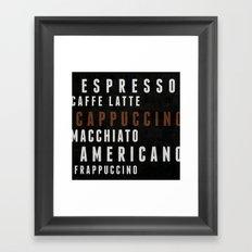 Coffee 02 Framed Art Print