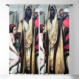 "Classical masterpiece ""The Slave Market"" by Emile Jean-Horace Vernet Blackout Curtain"