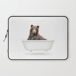 Bear in a Vintage Bathtub (c) Laptop Sleeve