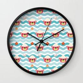 ac cute scallop lover pascal Wall Clock