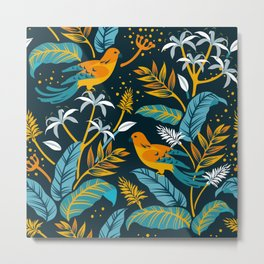 Birds in the night Metal Print
