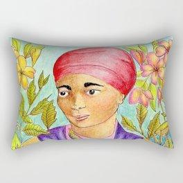 Woman With Adinkra Rectangular Pillow