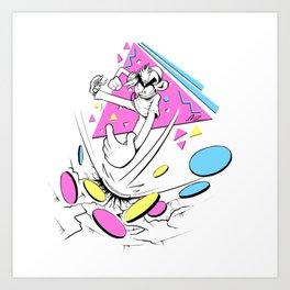 Slam it Art Print