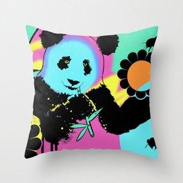 Hyper Panda! Throw Pillow