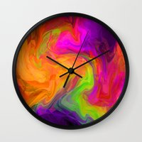passion Wall Clocks featuring passion by Sylvia Cook Photography
