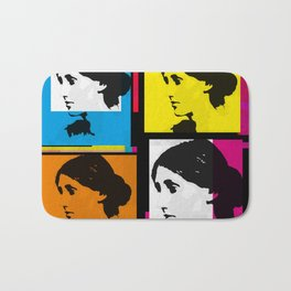 VIRGINIA WOOLF (FUNKY COLOURED COLLAGE) Bath Mat