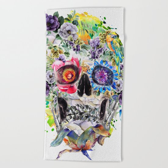 SKULL NI Beach Towel