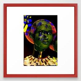 The mask of Colour 5  Framed Art Print