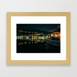 Easy nights in Bakar Framed Art Print