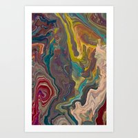 agate Art Prints featuring Agate by Jelly and Paul