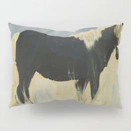 Horse in snow Pillow Sham