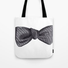 Striped Bow Tote Bag