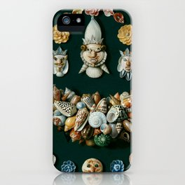 "Jan van Kessel de Oude ""Festoon, masks and rosettes made of shells"" iPhone Case"