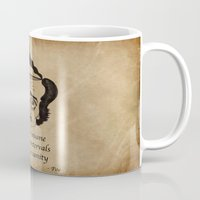 poe Mugs featuring Poe insane by 2headedsnake