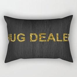 Hug Dealer | Gold foil Rectangular Pillow