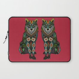 wolf red Laptop Sleeve