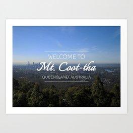 Mt. Coot-tha, Brisbane, Australia Art Print