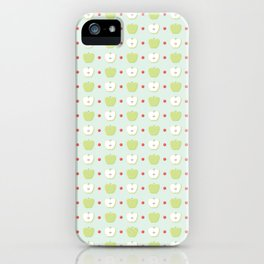 Sweet Green Apple Slices Pattern iPhone Case