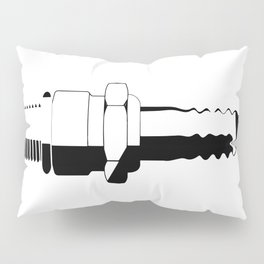 Auto Spark Plug Pillow Sham