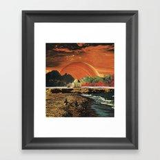 Running before the wind... Framed Art Print