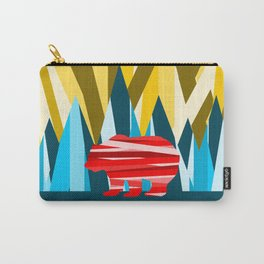 Abstract lines Bear Carry-All Pouch
