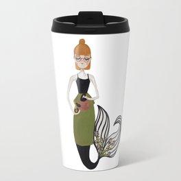 Tea Mermaid by Ashley Nada Travel Mug
