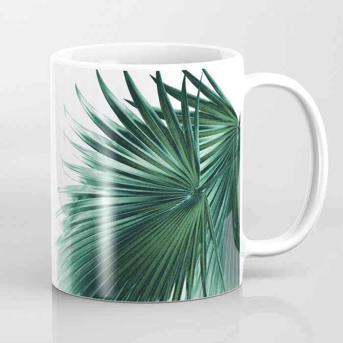 Fan Palm Leaves Paradise #7 #tropical #decor #art #society6 Coffee Mug