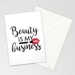 Beauty Is My business Makeup Make Up Artist Stationery Cards