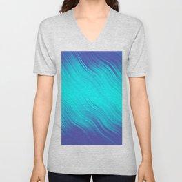Stripes Wave Pattern 10 bt Unisex V-Neck