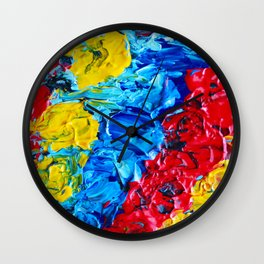 Primary Color Abstract Wall Clock