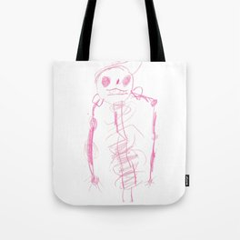 Skeleton with a Hat Tote Bag