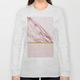 Alabaster rosa & gold on blush Long Sleeve T-shirt