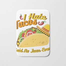 Tacos No Juan Ever Cinco De Mayo Party Bath Mat