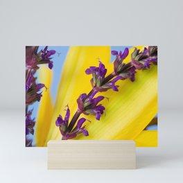 Salvia and Lily 1 Mini Art Print