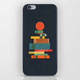Book stack with a ball iPhone Skin