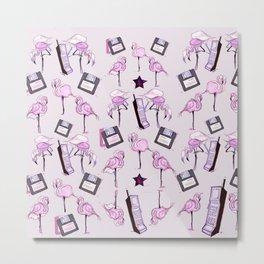 flamingos + floppy Metal Print