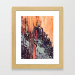 Night and Day: pretty abstract piece in orange, purple, and blues Framed Art Print