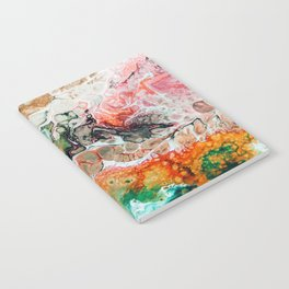 Painted Reality #abstract #painting Notebook