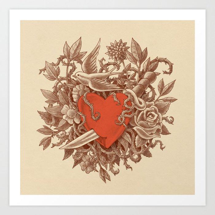 Heart of Thorns  Art Print