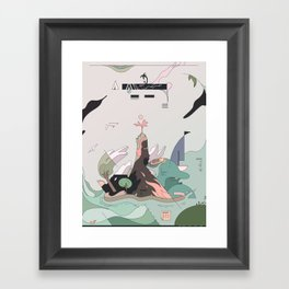 Windy Island Framed Art Print