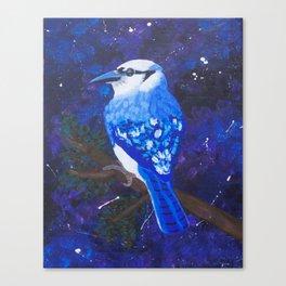 Among the Stars: Blue Canvas Print